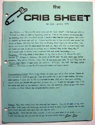 Cover of The Crib Sheet, Issue #1